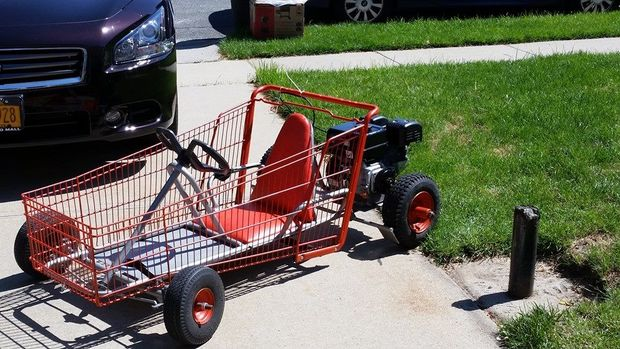 The Recycled Shopping Go Cart Blueprint