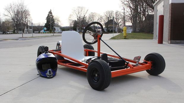 The Upcycled Orange Gas Powered Go KartBuild