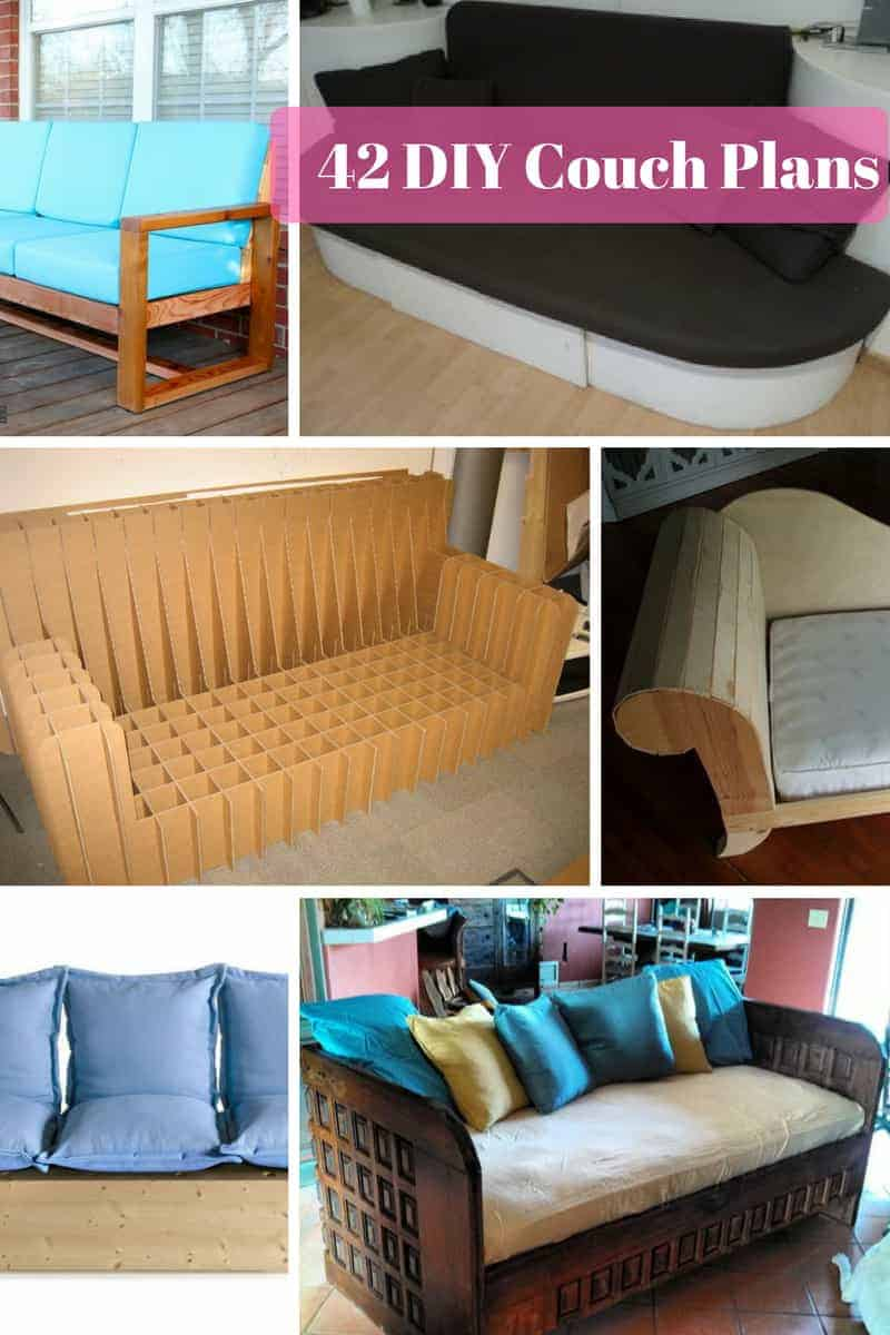 42 Diy Sofa Plans Free Instructions Mymydiy
