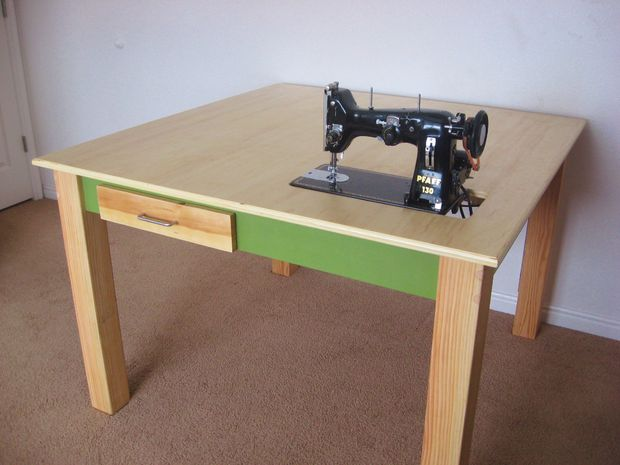 The 40 Best DIY Sewing Table Plans [Ranked] MyMyDIY Inspiring Interesting How To Set Up A Sewing Machine Table