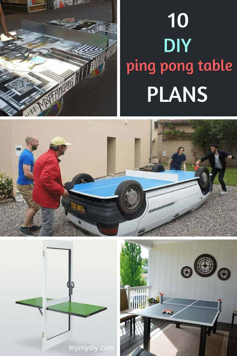 10 Crafty Diy Ping Pong Table Plans Free Mymydiy
