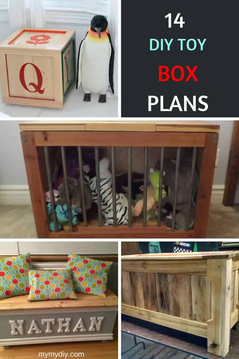 14 DIY toy box project plans