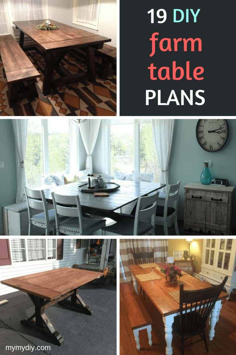 19 DIY farmhouse table plans