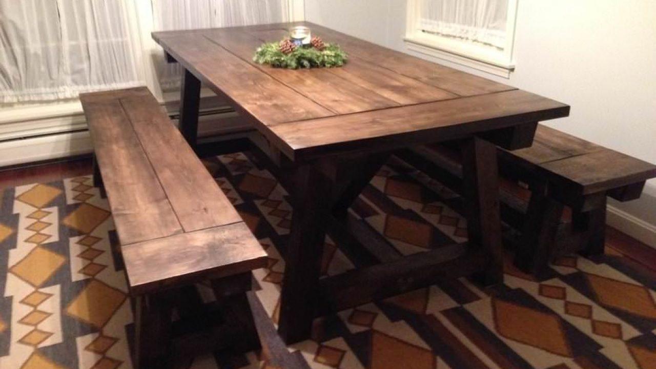 19 Stunning DIY Farmhouse Table Plans List