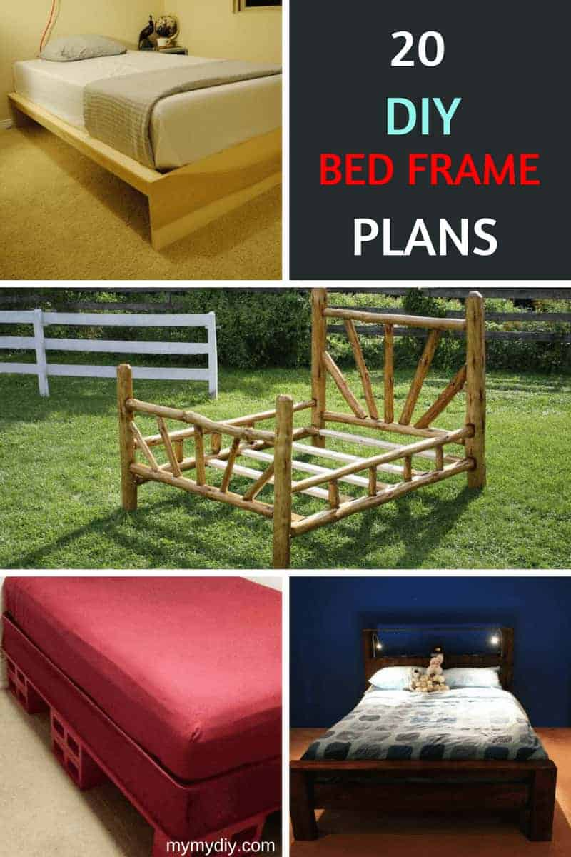 20 Masterly DIY Bed Frames [Free Plans] - MyMyDIY | Inspiring DIY ...