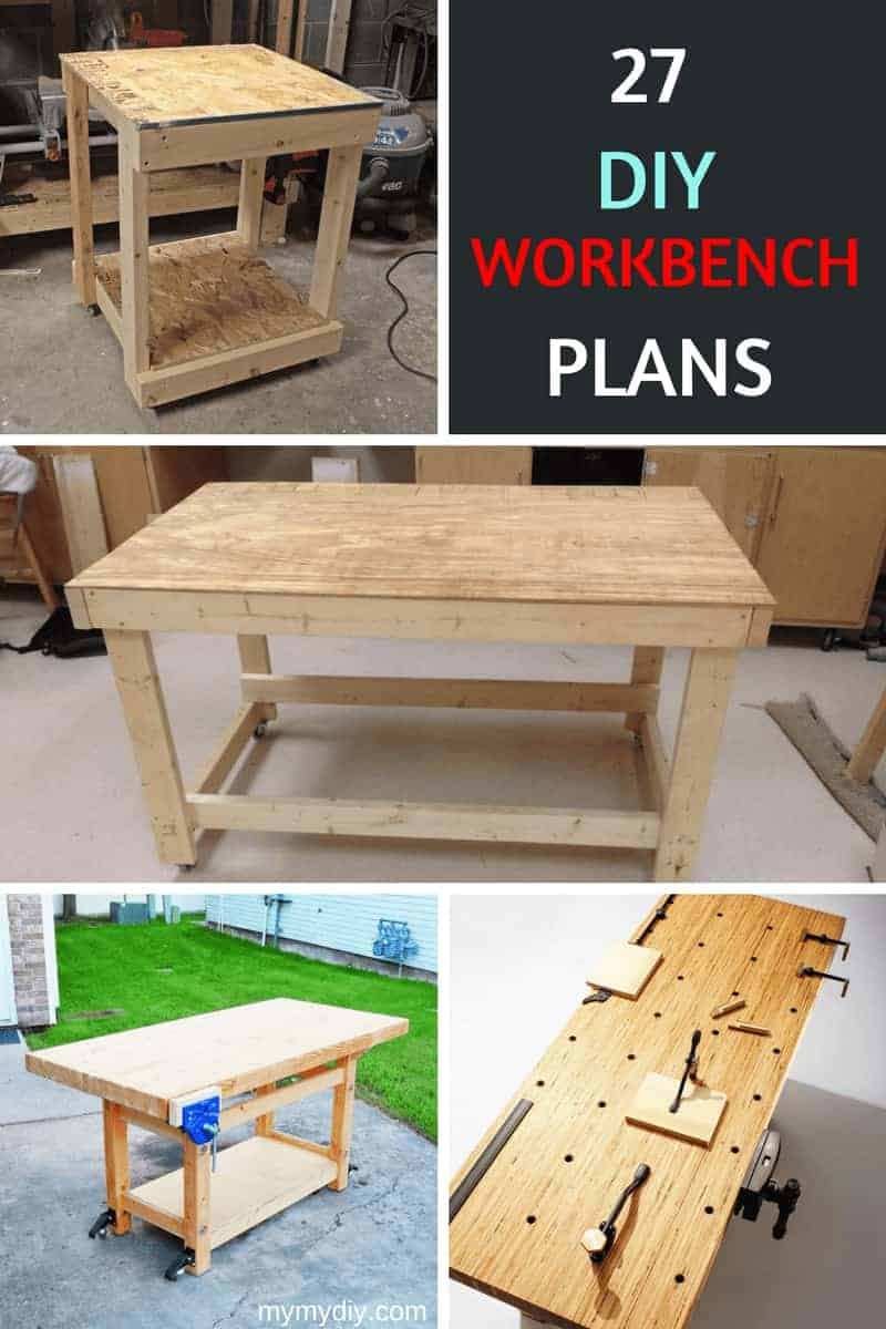 Astounding 27 Sturdy Diy Workbench Plans Ultimate List Mymydiy Machost Co Dining Chair Design Ideas Machostcouk