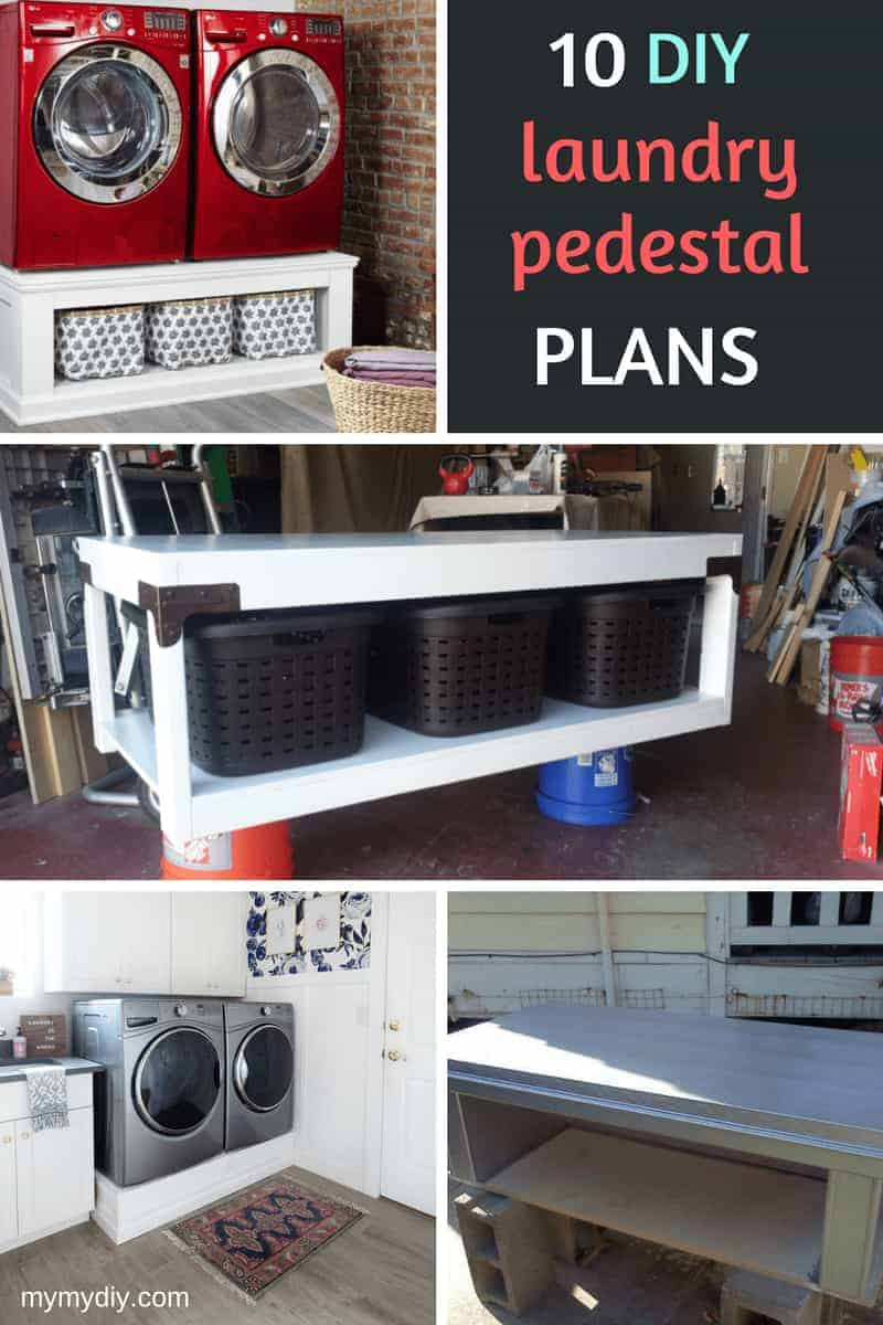 10 Super Sturdy DIY Laundry Pedestals [Free Plans]