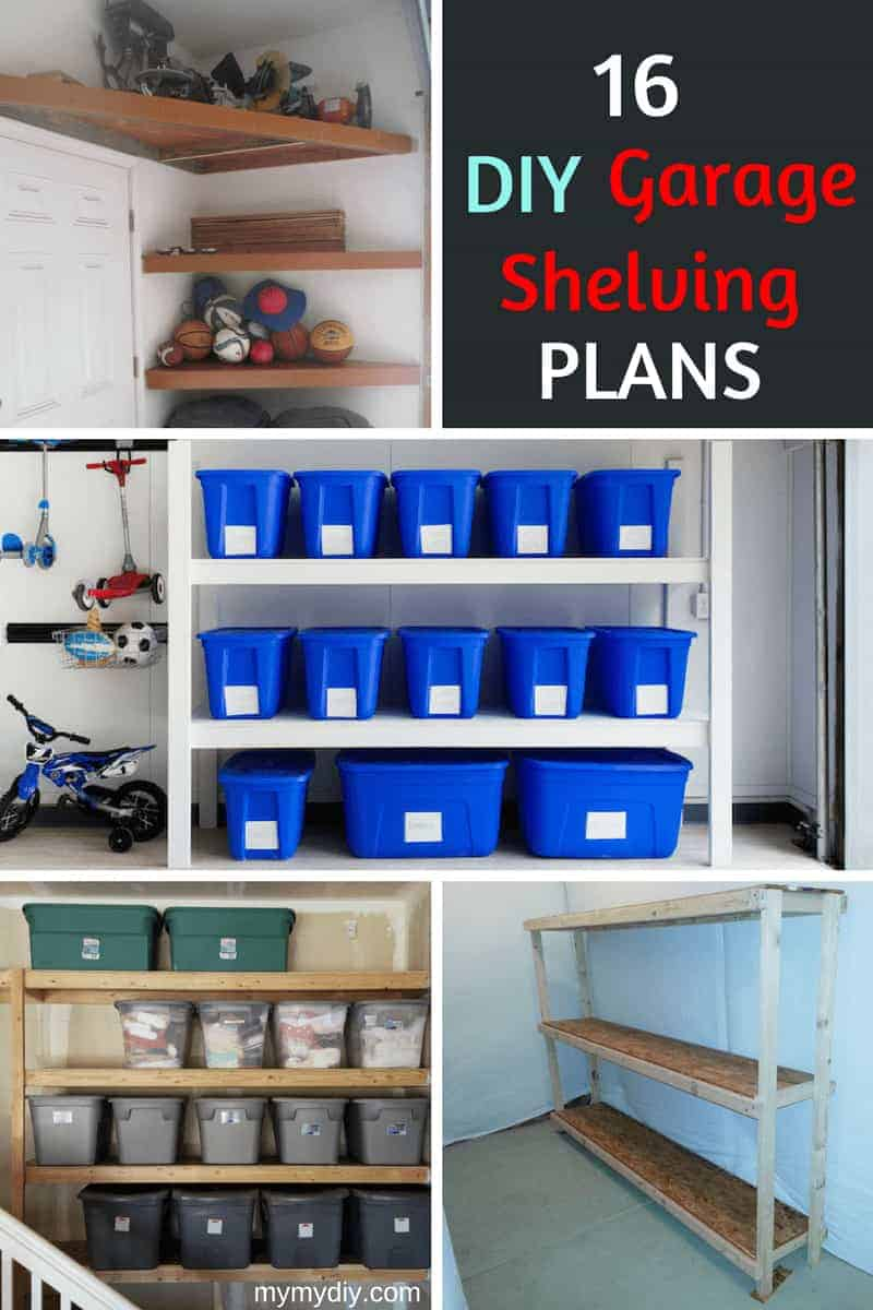 16 practical diy garage shelving ideas plan list for Diy garage plans