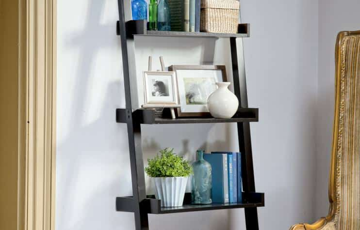 diy ladder shelf plan