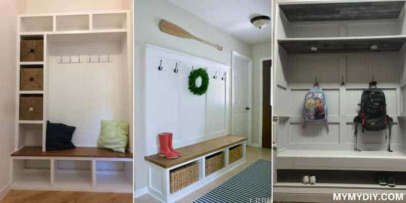 mudroom bench diy ideas