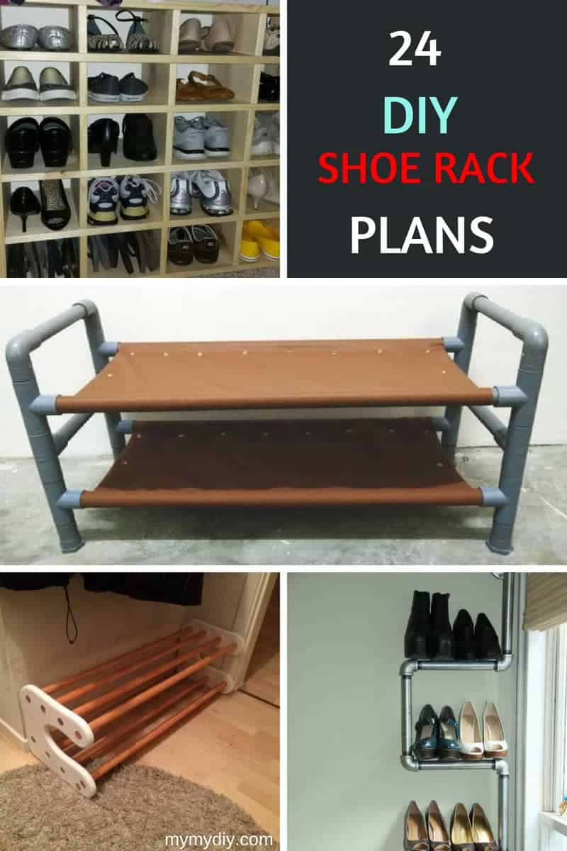 24 Diy Shoe Rack Plans