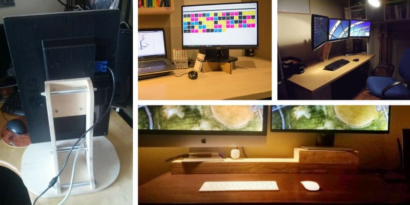 14 Diy Computer Monitor Stands Free Plans Mymydiy