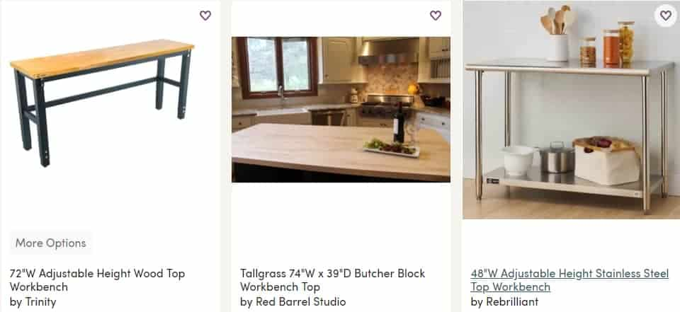 wayfair workbenches