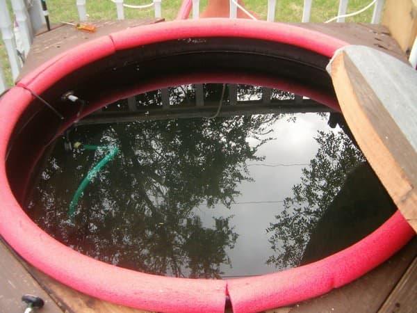 orange lipped diy hot tub