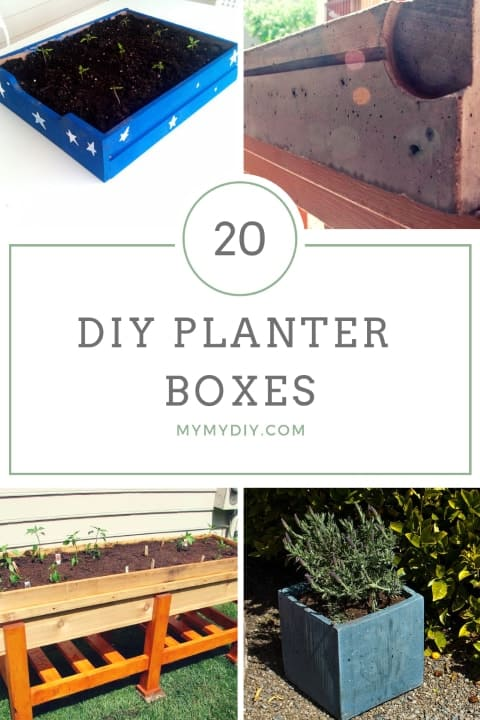 20 DIY Planter Boxes | Free Plans - MyMyDIY | Inspiring DIY