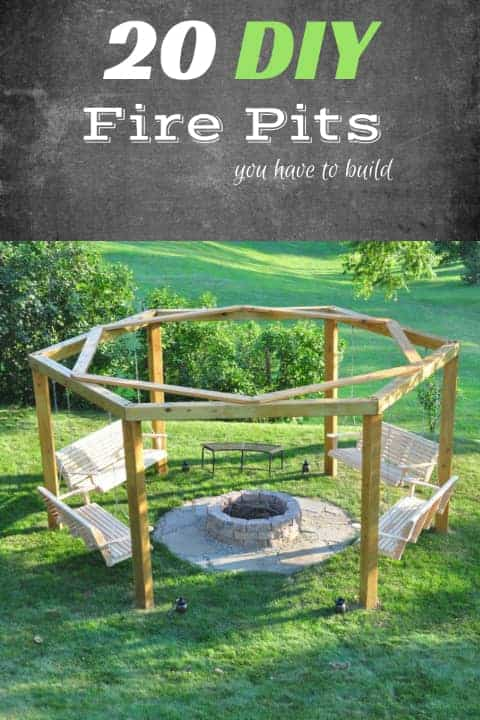 20 Gorgeous Diy Fire Pit Plans Free Mymydiy Inspiring Projects