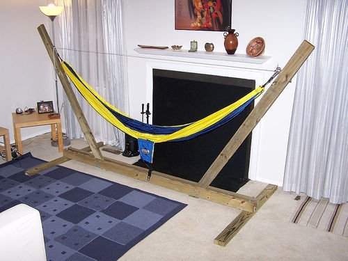 Hammock Stand Designs : Diy hammock stand plans free list with pics mymydiy