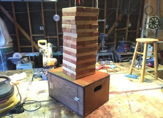 diy jenga blocks with case