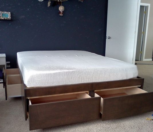 platform trundle bed with drawers