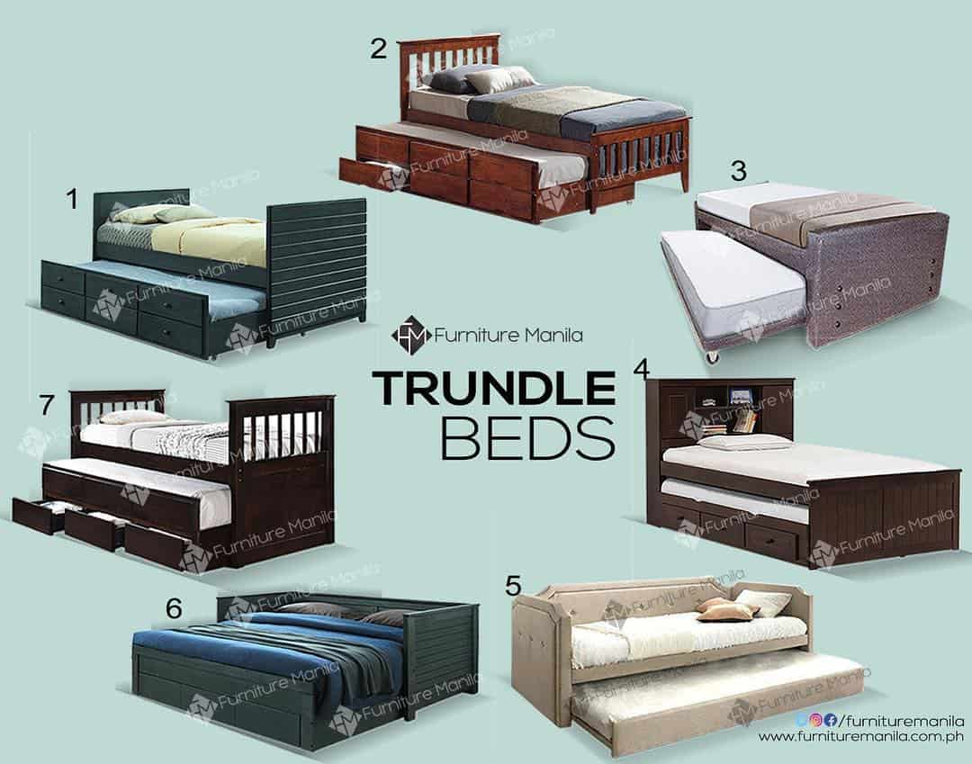 types of trundle beds