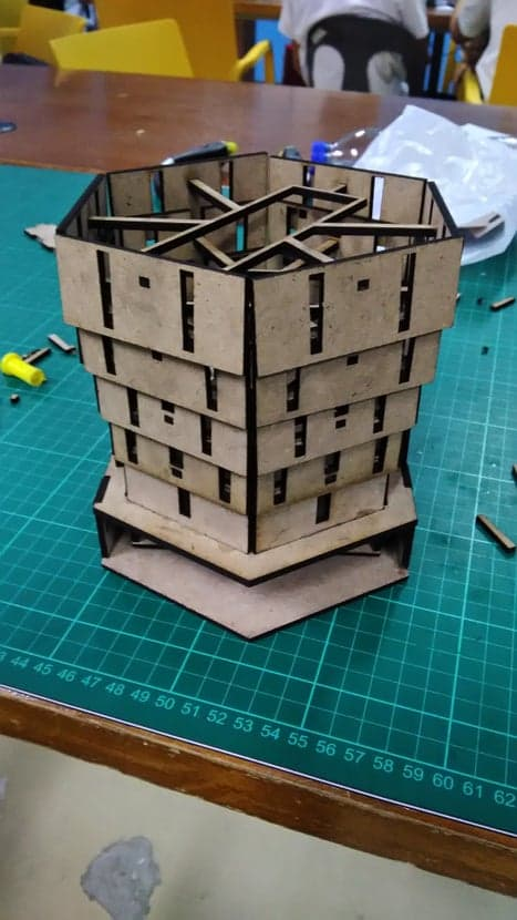 Telescoping Dice Tower