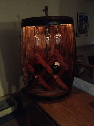 Wine Barrel Into a Wine Rack