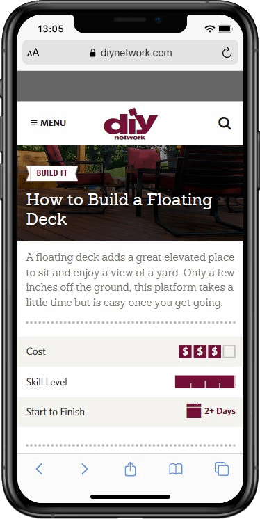 How to Build a Floating Deck - how-tos - DIY