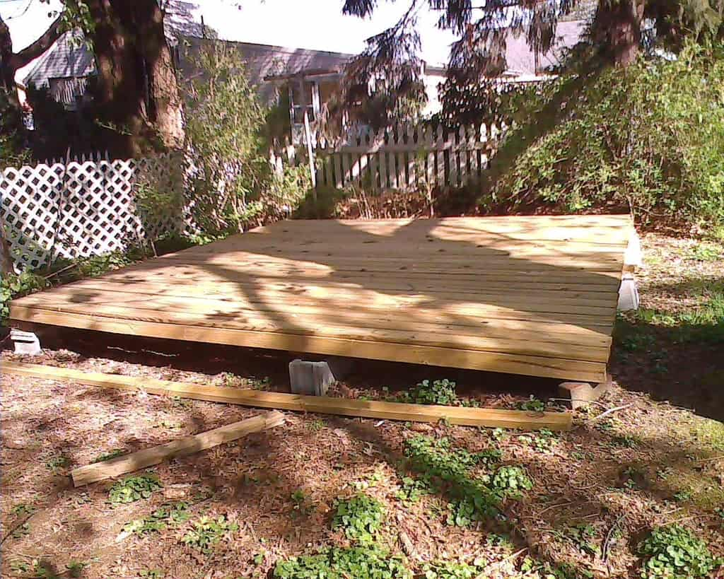 How to Build a Floating Deck
