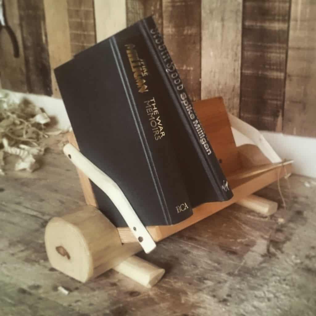 Rustic Desktop Bookshelf