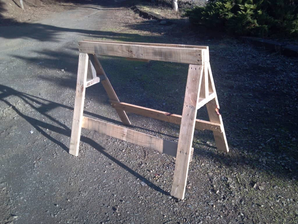 Sawhorse Made From Pallets