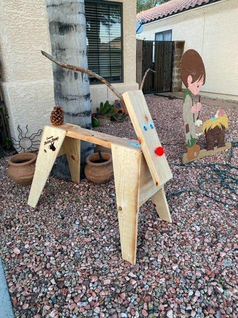Sawhorse Reindeer Yard Art