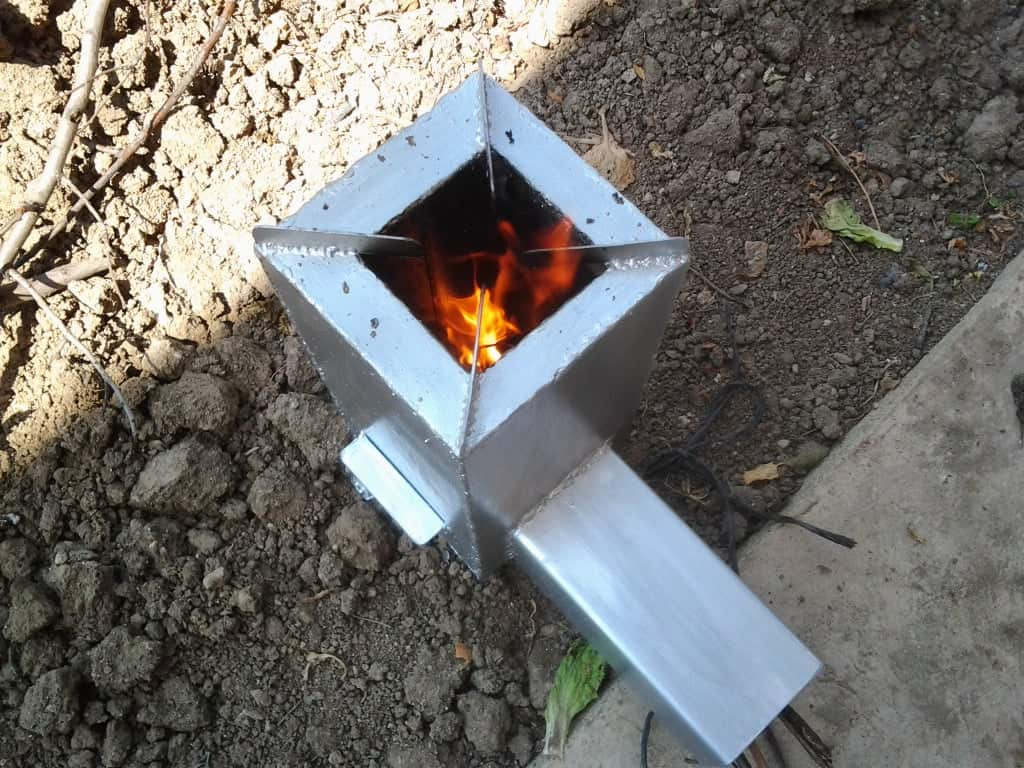 Space Shuttle Rocket Stove