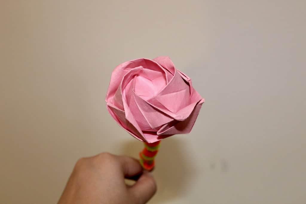 Paper Rose Boutonnière