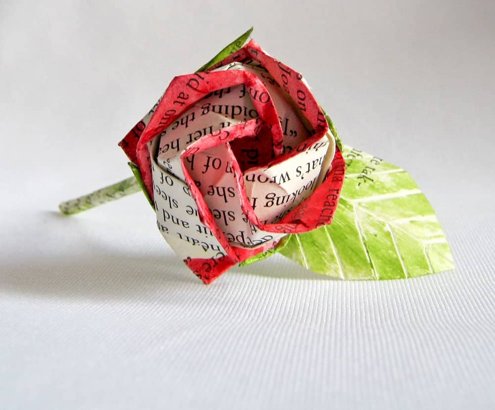 Recycled Paper Rose Boutonnieres